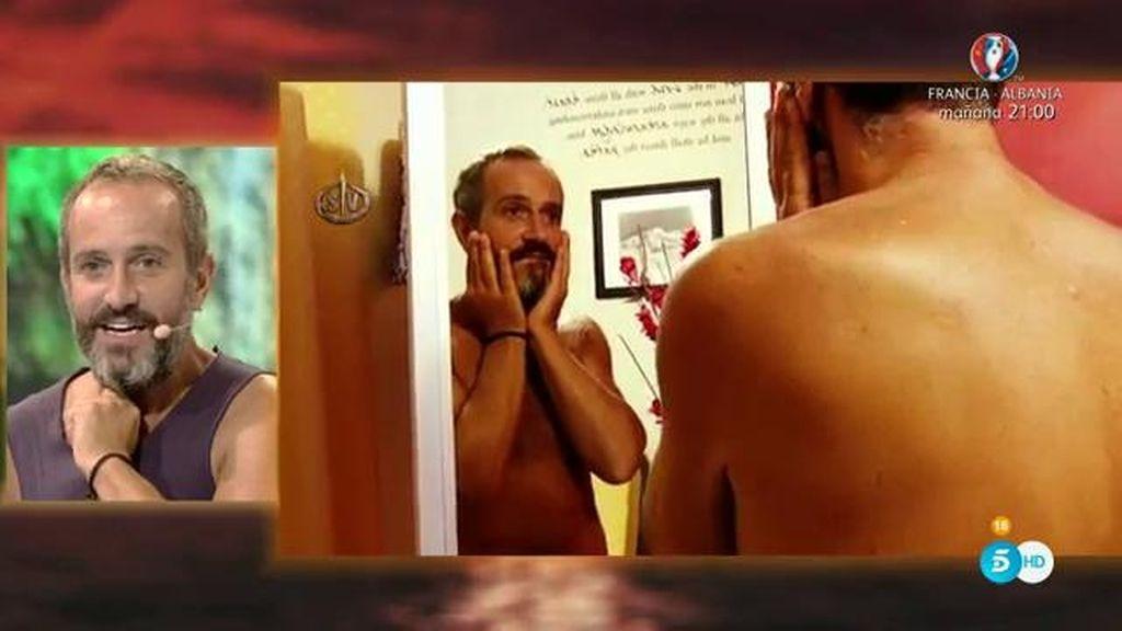"""La reacción de Víctor al verse en un espejo: """"¡Ay dios mío, si soy el abuelo de Heidi"""""""
