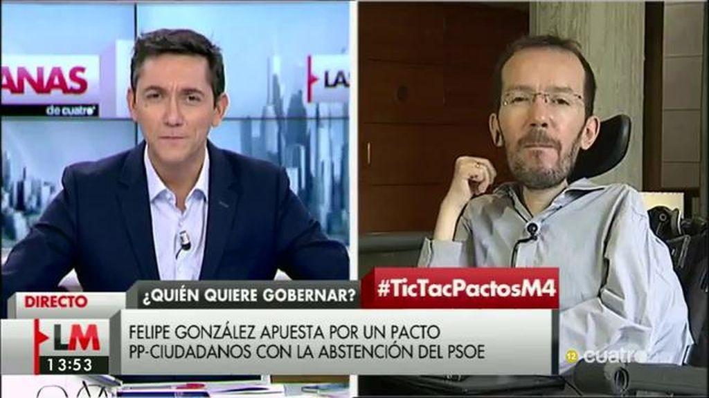 La entrevista completa a Pablo Echenique