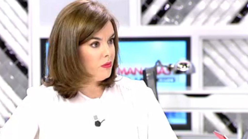 La vicepresidenta reconoce que España debe estar mejor representada en Europa