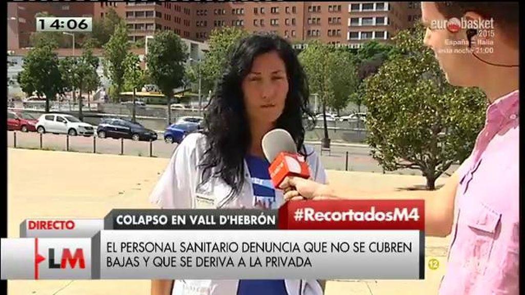 El personal sanitario del  Vall D`Hebrón denuncia que no se invierte en el hospital