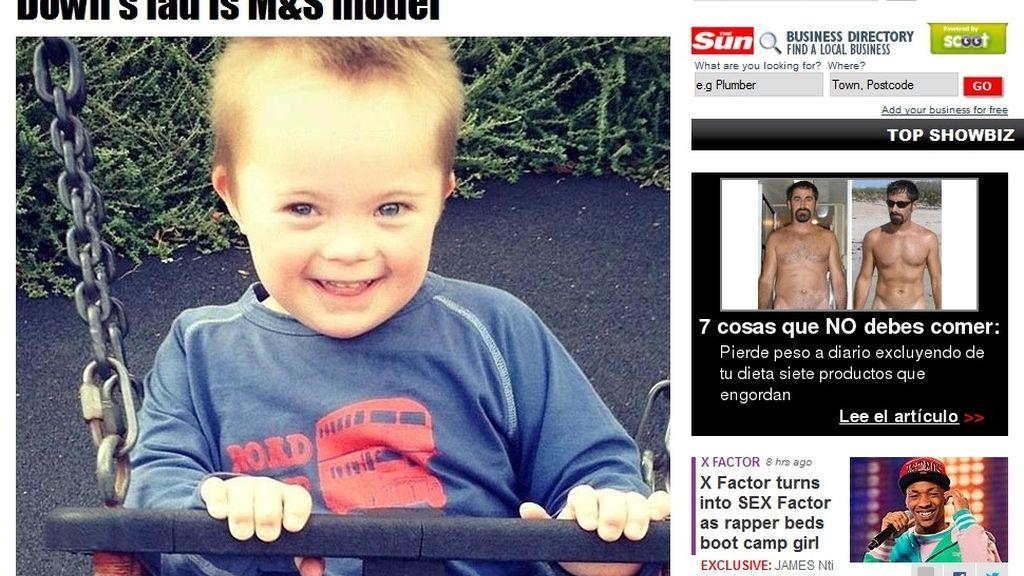 Seb, modelo infantil con síndrome de down