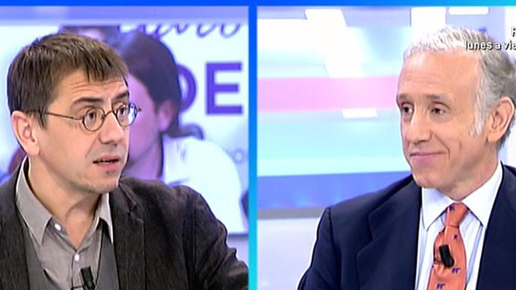 Inda y Monedero, 'el feo' y 'el Clooney' de la mesa política de 'AR'
