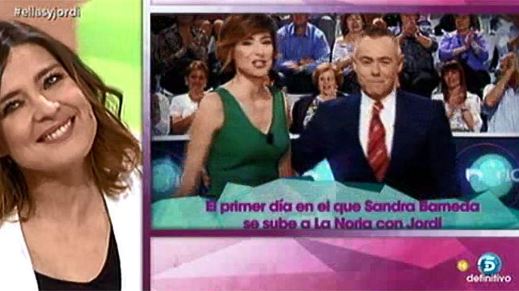 """Sandra Barneda, a Jordi: """"Ha sido un placer trabajar contigo pero valoro más haber ganado un amigo"""""""