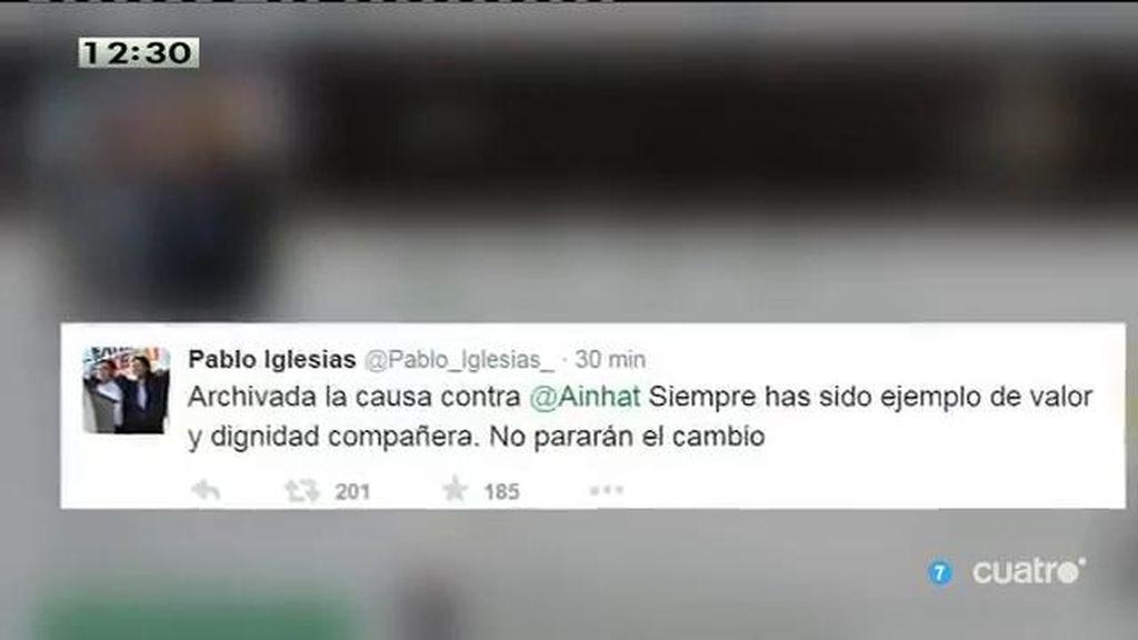"""P. Iglesias, a T. Sánchez: """"Siempre has sido ejemplo de valor y dignidad compañera"""""""