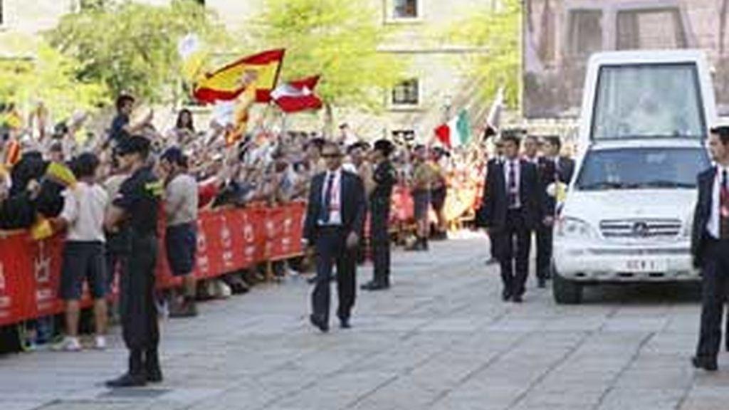 El Papa en el Escorial. foto: EFE
