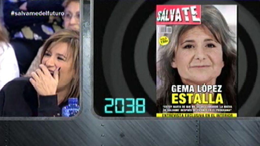 """Gema López, en el año 2038: """"Estoy harta de que me llamen la nueva de 'Sálvame"""""""