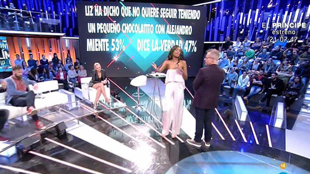 La audiencia cree que Liz quiere tener un chocolatito con Alejandro