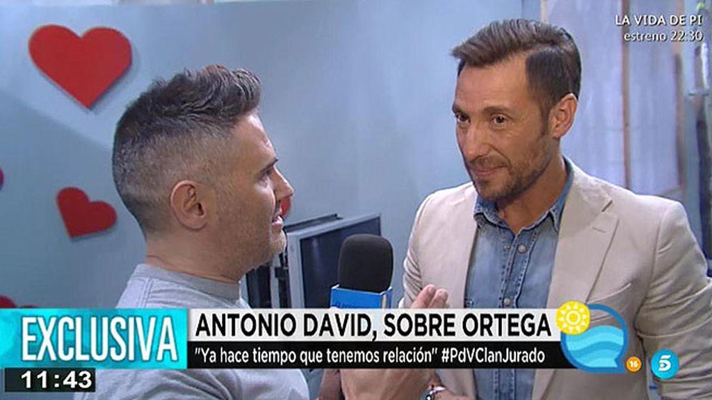 """A. David, sobre su amistad con Ortega: """"Es una relación muy sana y muy bonita"""""""