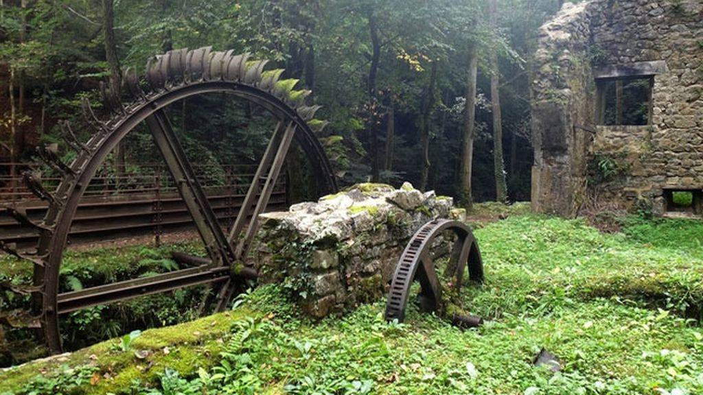 El molino abandonado, en Francia