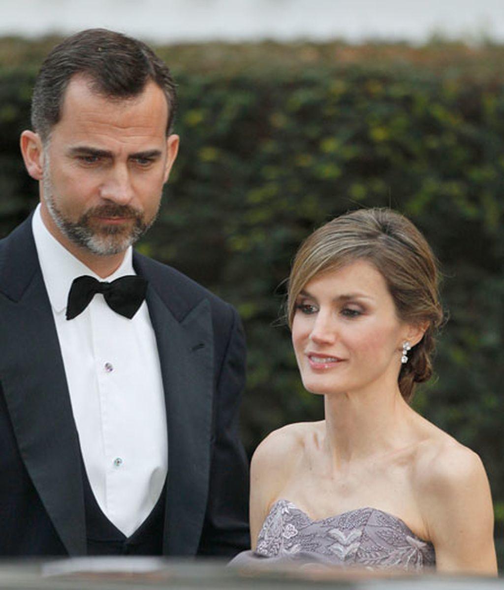 Los Príncipes de Asturias y la Reina, en la boda real en Londres