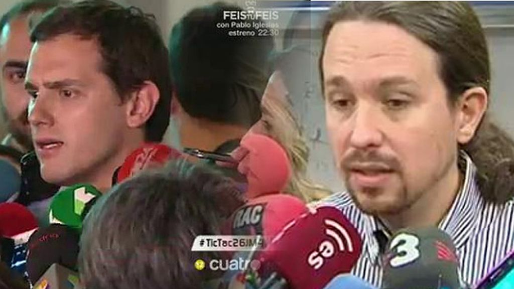 Las declaraciones cruzadas de Albert Rivera y Pablo Iglesias sobre Venezuela