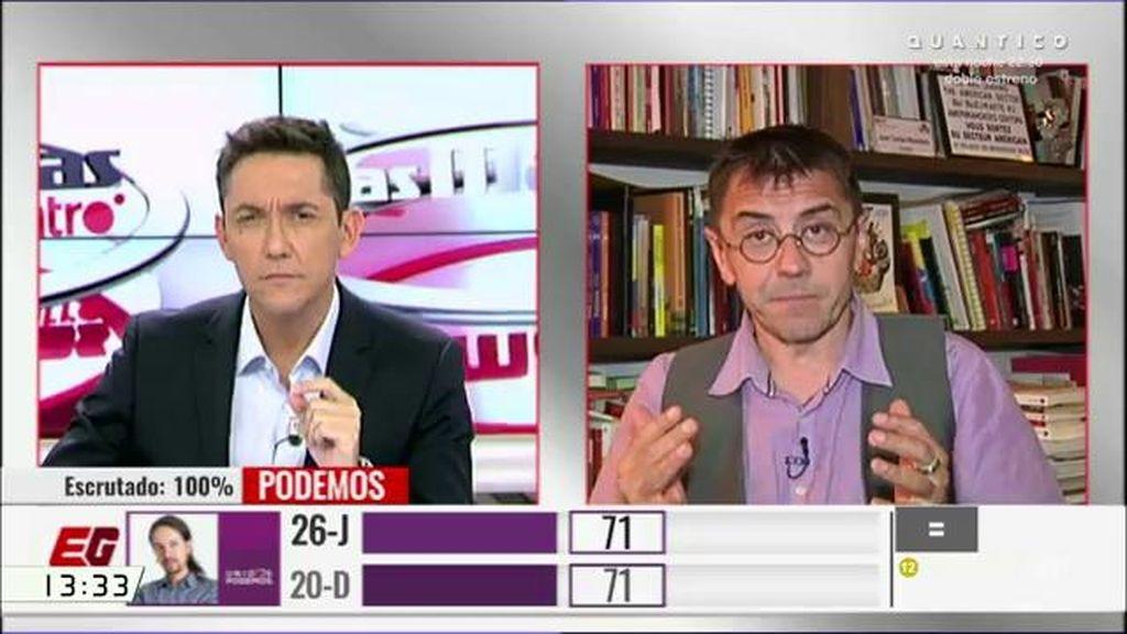 """Monedero, de Pablo Iglesias: """"Que a la primera exijan que tiene que dimitir, me parece de caraduras"""""""