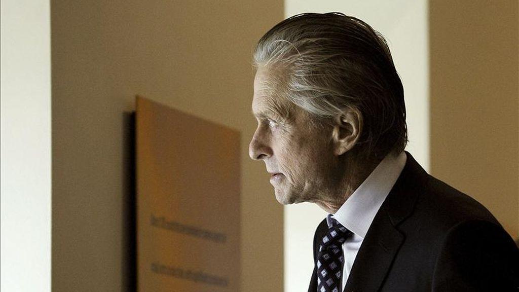 El actor y mensajero de la Paz de la ONU estadounidense Michael Douglas. EFE/Archivo