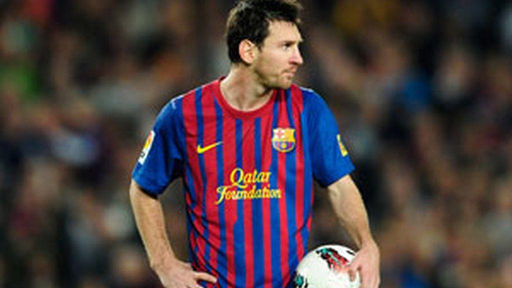 Messi durante el encuentro ante el Sevilla. Foto: GTres