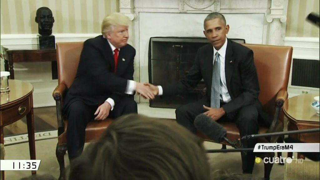 El tenso encuentro entre Obama y Trump, analizado gesto a gesto