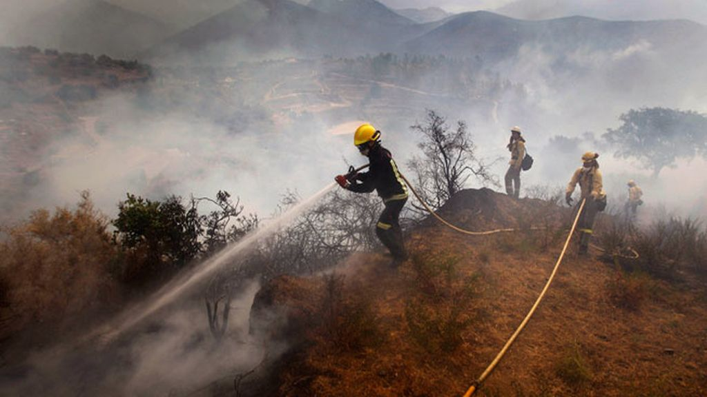 Incendio en Málaga