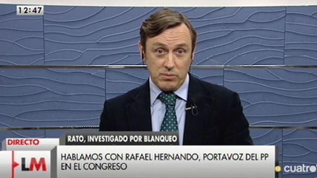 """Hernando, de Rato: """"Lo que ha hecho el gobierno es habilitar medidas que están permitiendo destapar estos casos"""""""