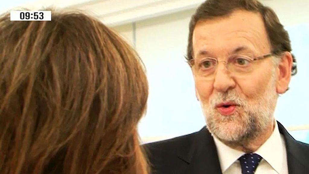 """Rajoy: """"Cuando llegamos a Moncloa le dije a mi mujer que hiciera lo que creyera que era mejor para ella y para los niños"""""""