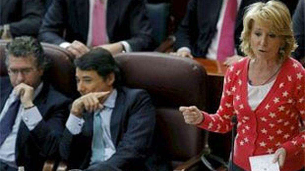Imagen de archivo de Esperanza Aguirre, durante un pleno celebrado en la Asamblea de Madrid. Foto: EFE.