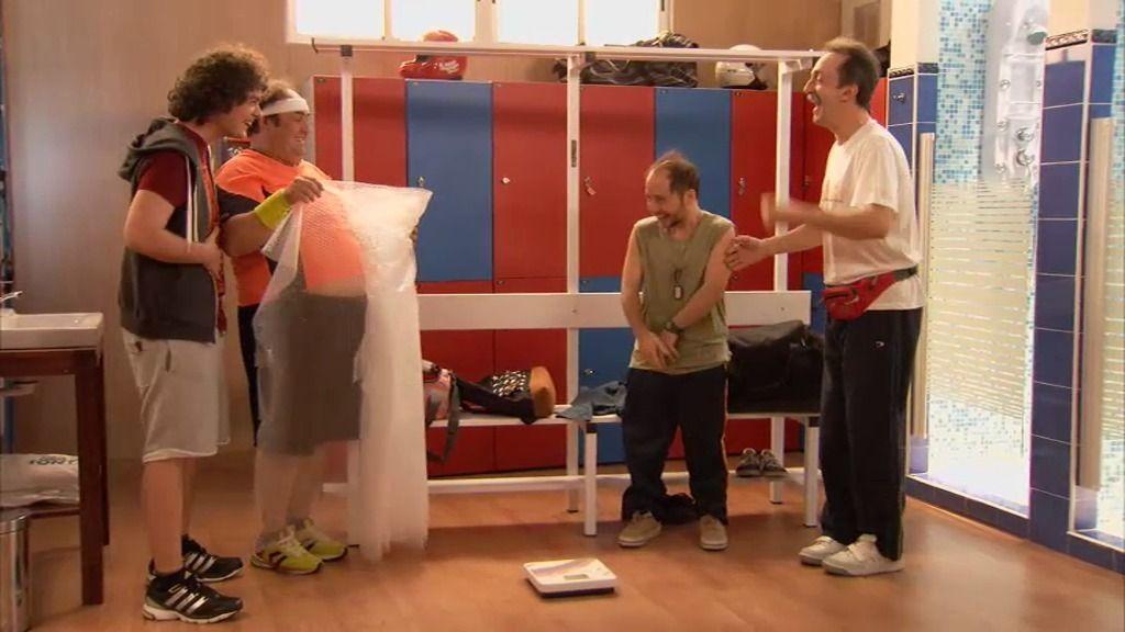 """""""Siroco Tucutucu"""" y otros 'gambazos' en el rodaje de 'Gym Tony'"""