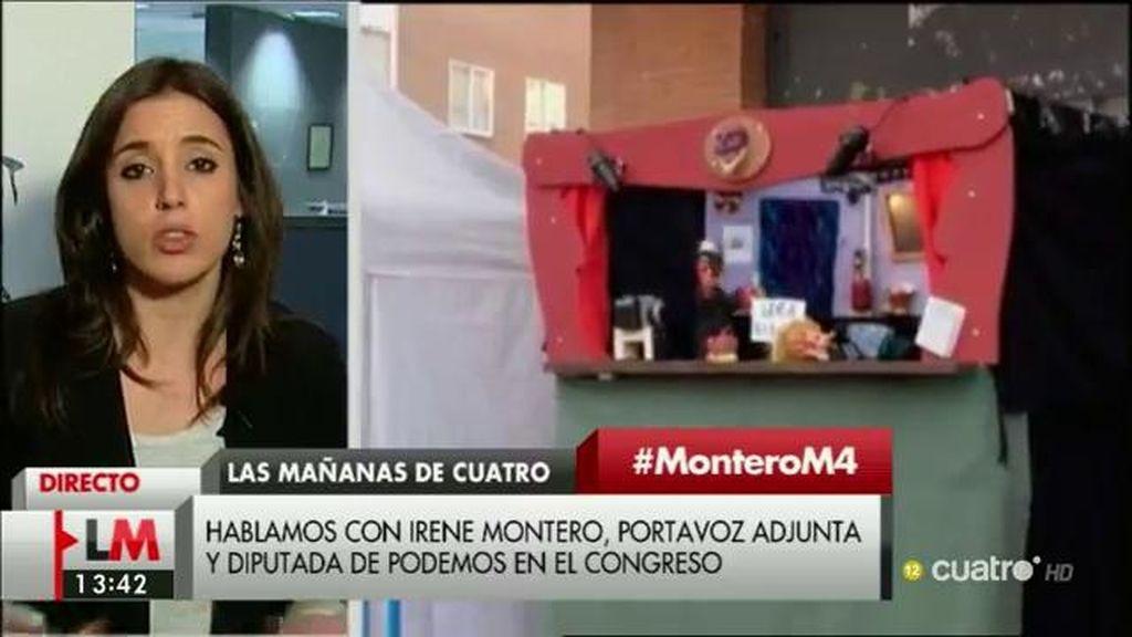"""I. Montero, sobre la petición de la Fiscalía de libertad para los titiriteros: """"Para nosotros sólo puede ser una buena noticia"""""""