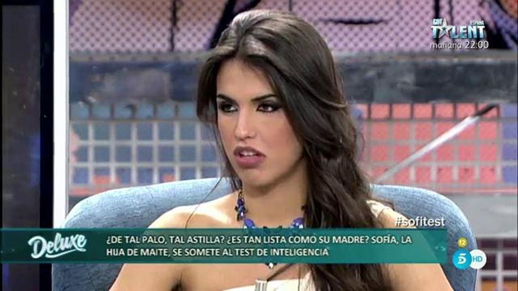 """Sofía: """"A mi madre ya se le ha ido la tontería con Amador Mohedano"""""""
