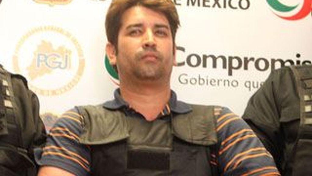 """Óscar Osvaldo García Montoya, alias """"El Compayito"""", presunto líder de la organización La Mano con Ojos, quien confesó haber participado en 300 homicidios y ordenado 600 más. Foto Milenio"""