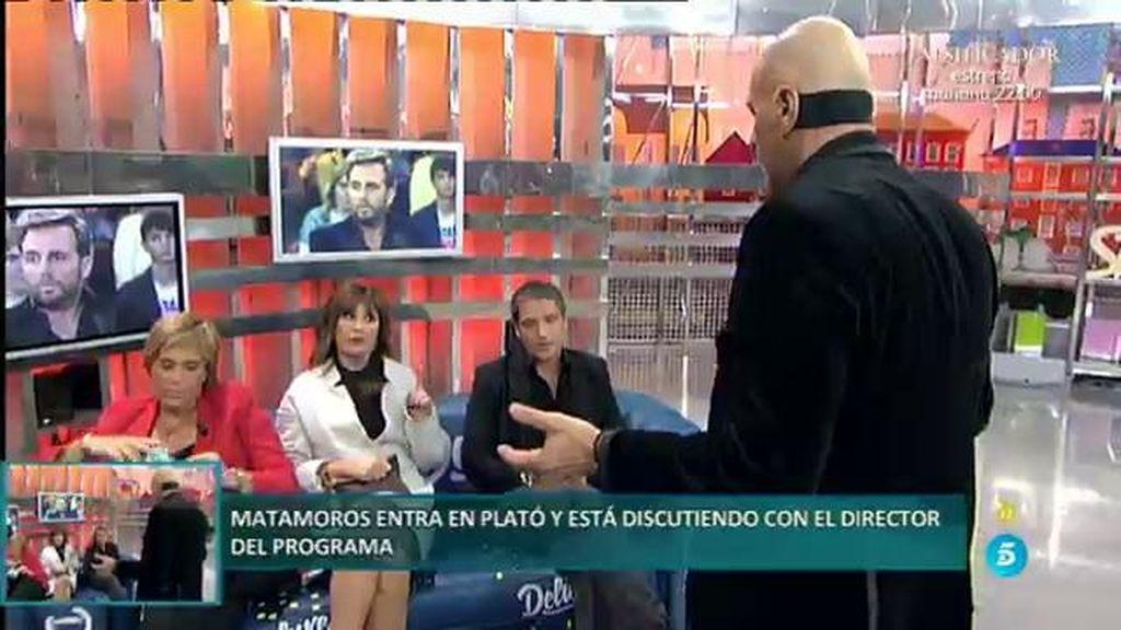 Kiko Matamoros irrumpe en plató en plena entrevista con Mila Ximénez