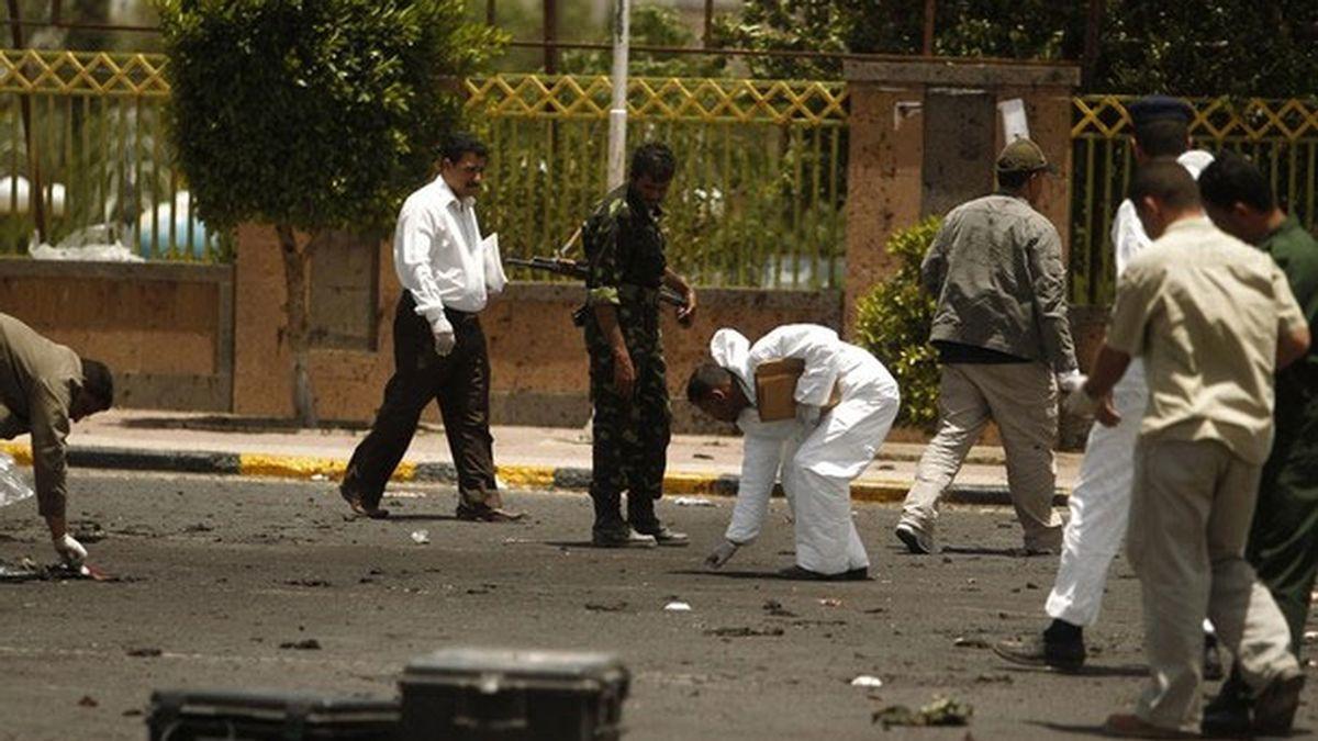 Lugar del atentado en Saná