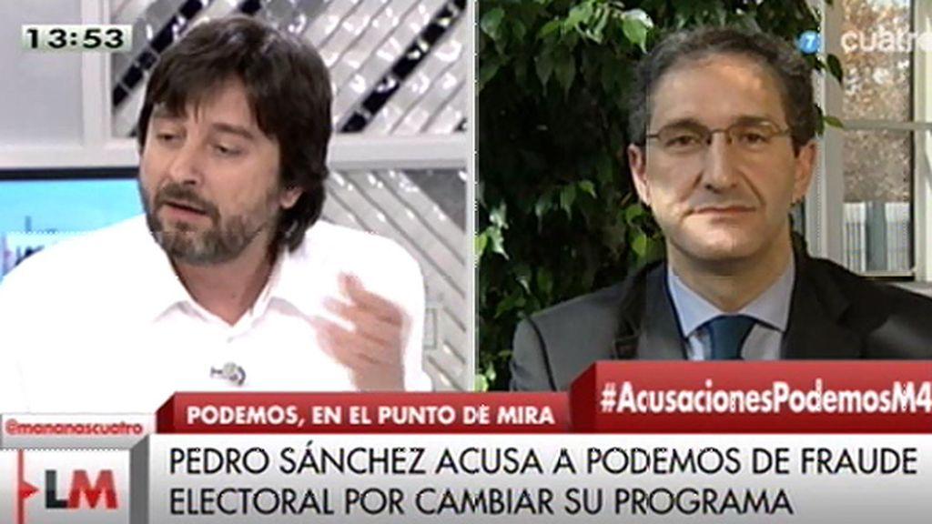 """(PSOE): """"El nuevo partido comunista de Podemos está tirando balones fuera"""""""