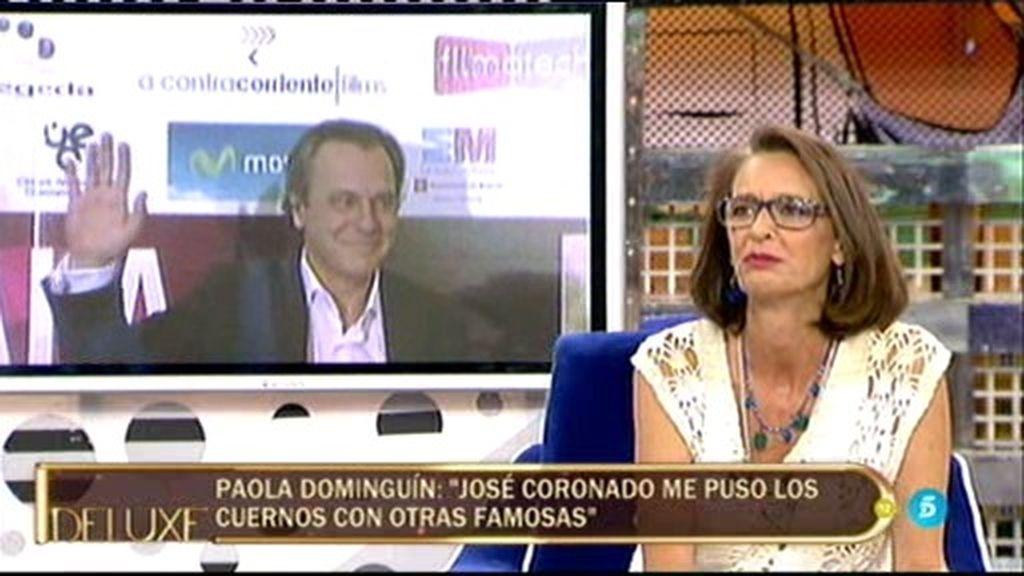 """Paola Dominguín, sobre José Coronado: """"Me contó que me había sido infiel y con quién"""""""