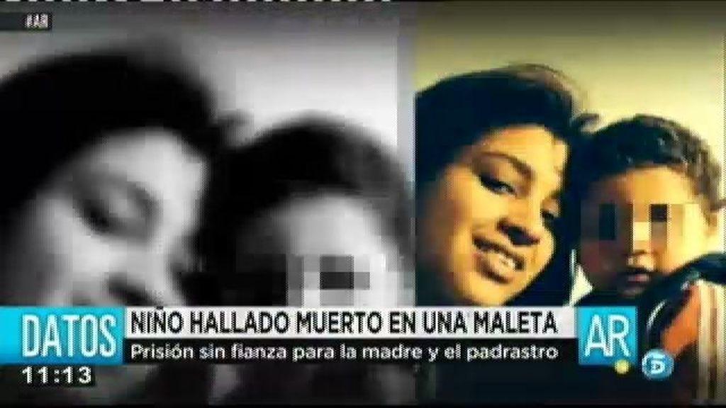 Prisión sin fianza para la madre y el padrastro del menor hallado muerto en una maleta