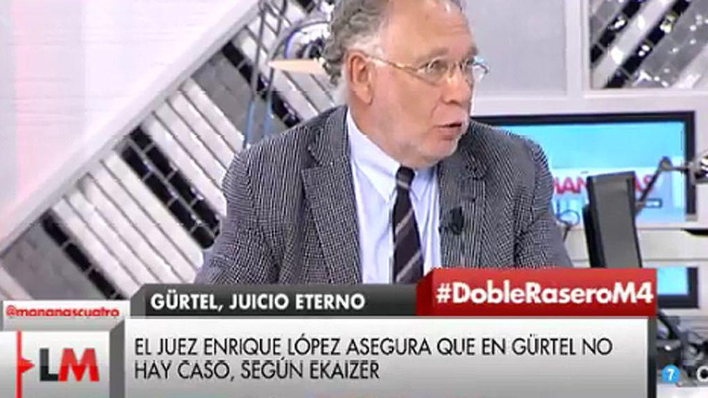 """Ekaizer, en exclusiva: """"El juez Enrique López dijo que en el caso Gürtel no hay caso"""""""