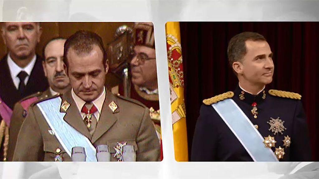 Las diferencias entre la coronación de Don Juan Carlos y la de Don Felipe