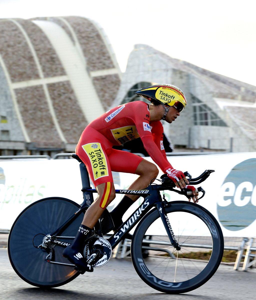El ciclista Alberto Contador, del equipo Tinkoff-Saxo
