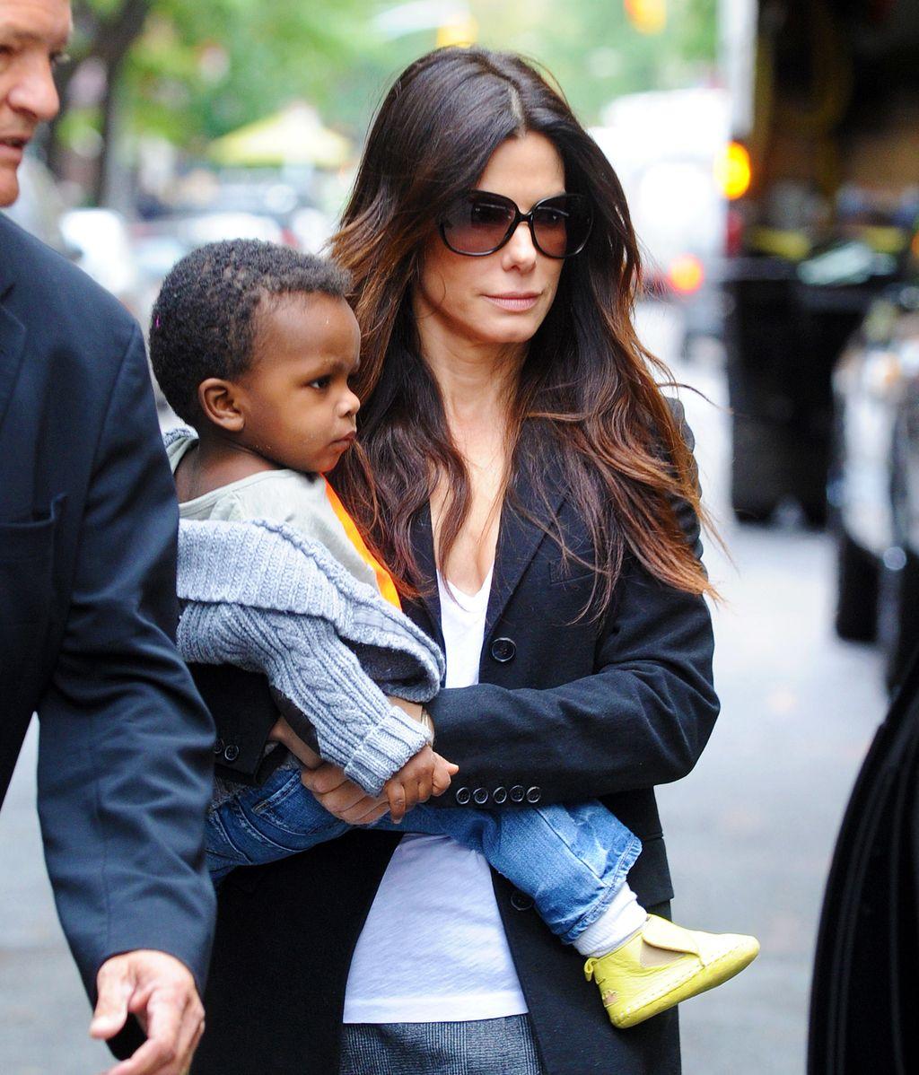 Con mi hijo en brazos