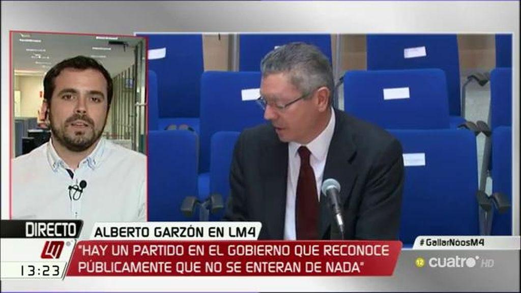 """Alberto Garzón: """"¿Quién gobierna este país si estas personas no se enteran de nada?"""""""