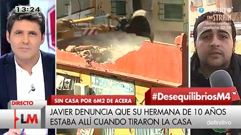 """Javier, tras el derribo de su casa: """"No somos okupas y no era una infravivienda"""""""