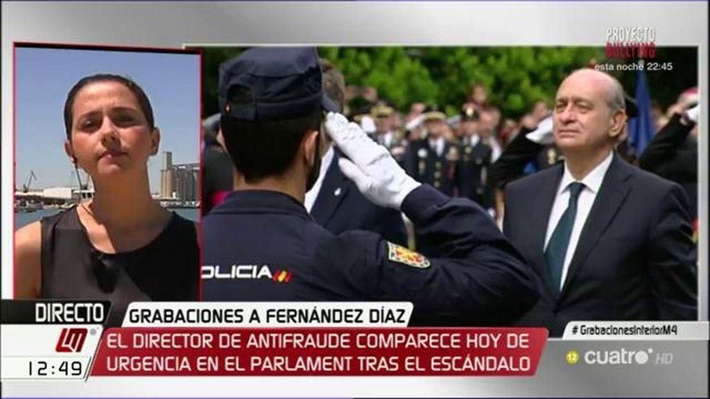 """Inés Arrimadas, sobre Fernández Díaz: """"No es digno de un ministro y debería dimitir"""""""