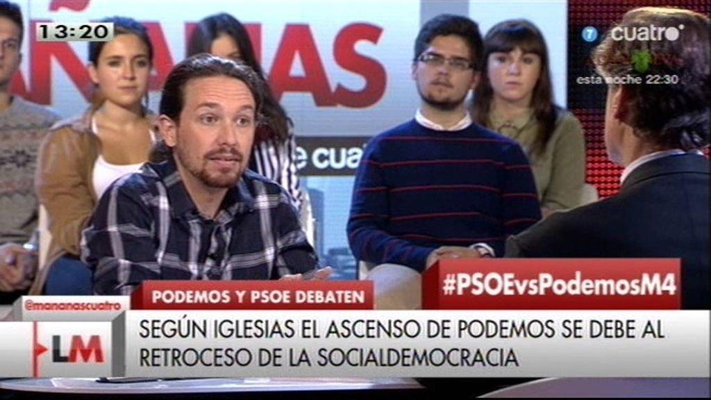 """Iglesias: """"Nuestro programa lo habría defendido la socialdemocracia hace 25 años"""""""