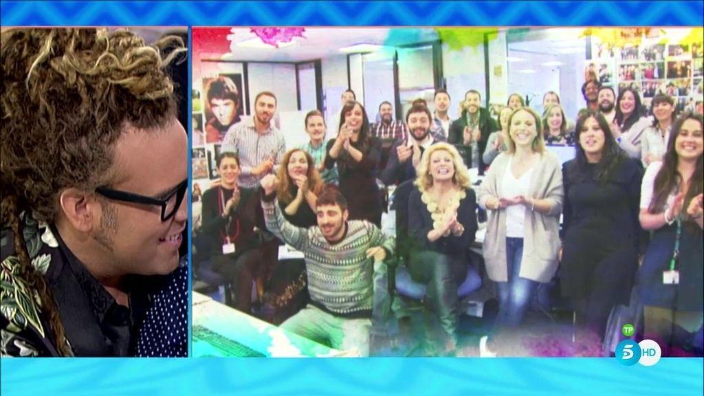 Los compañeros de '¡QTTF!' sorprenden a Torito con un emotivo vídeo