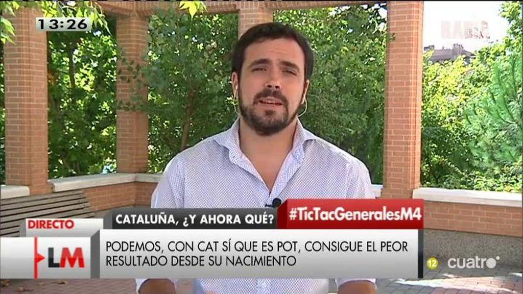 "Alberto Garzón: ""El bipartidismo está tocado"""