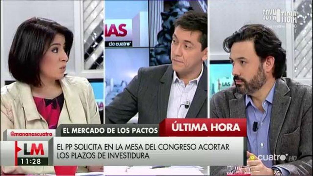 """A. Lastra (PSOE): """"Estas prisas pretenden bombardear un posible acuerdo de gobierno"""""""