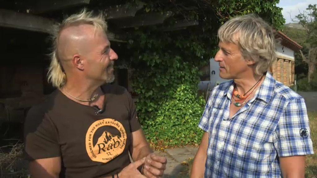 Animal, un 'loco' de la escalada que dejó la ciudad para escalar en Riglos