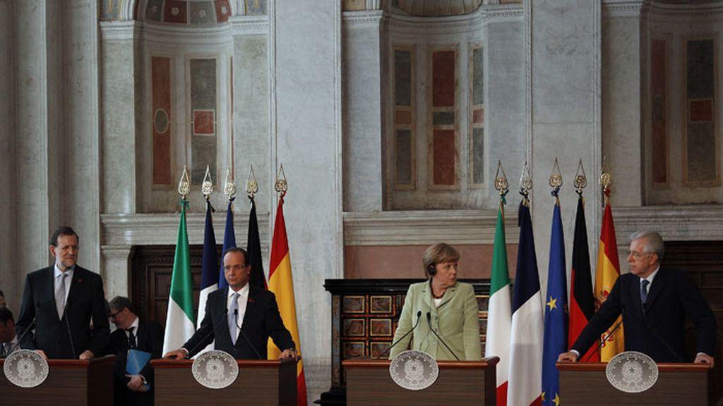 Cumbre en Roma de Rajoy, Merkel, Hollande y Monti