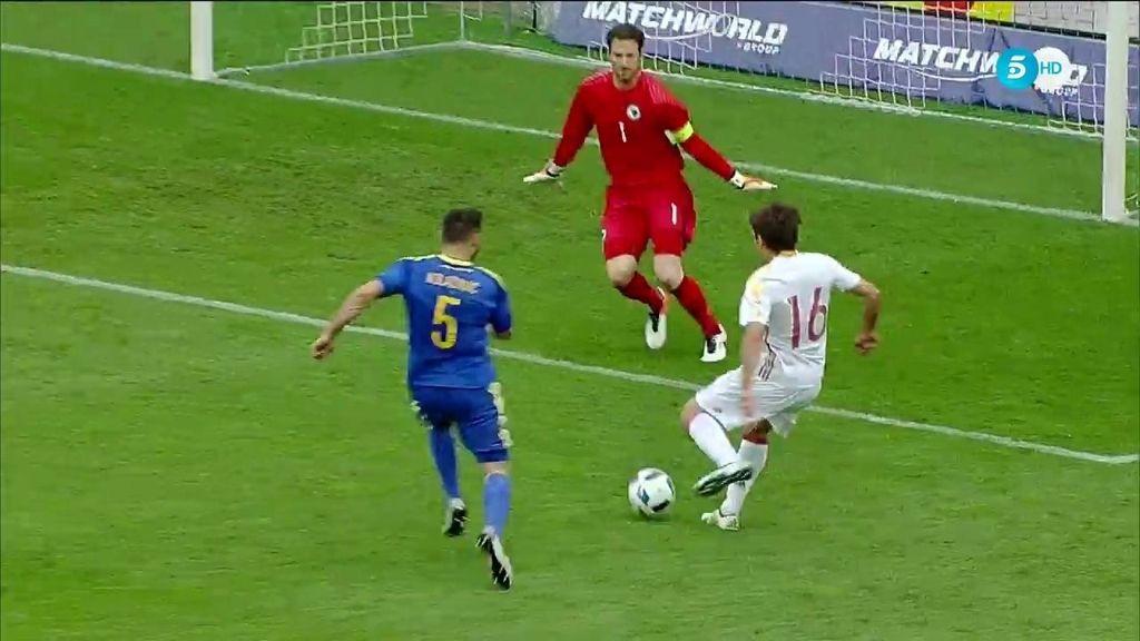 El debutante Oyarzábal tuvo en su pierna izquierda el tercero para La Roja