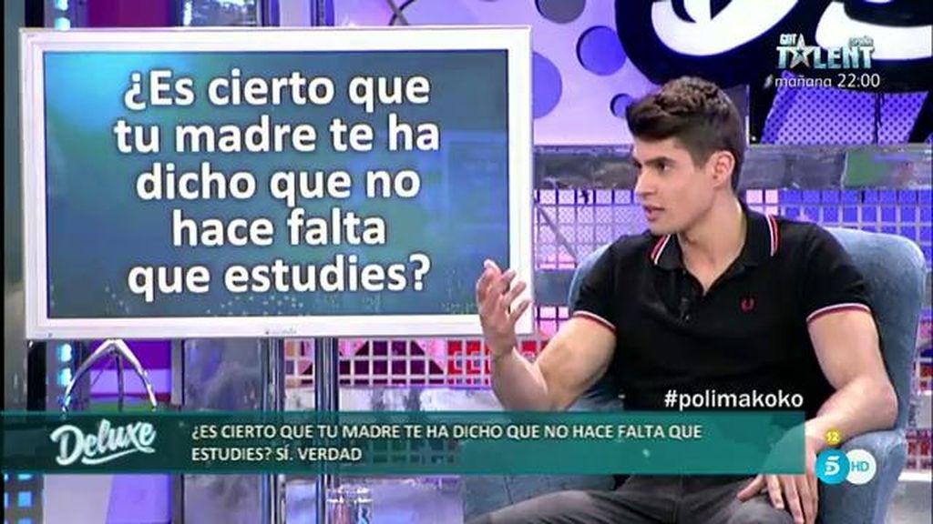 """Javier: """"Mi madre me ha dicho que no hace falta que estudie, siempre he trabajado"""""""