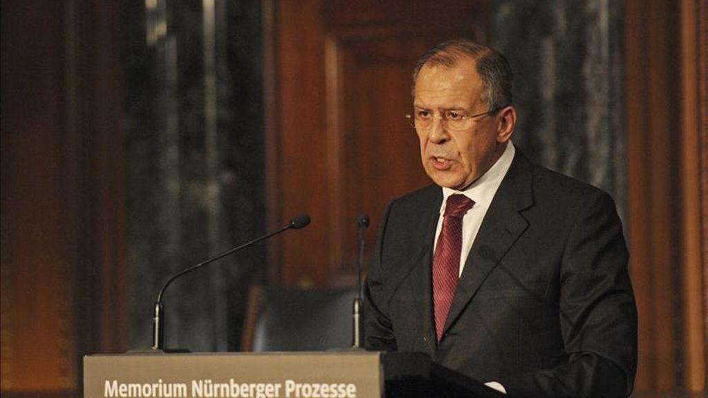 El ministro ruso de Exteriores, Sergey Lavrov. EFE/Archivo