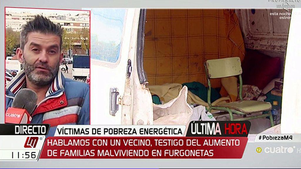 """Pablo, testigo del aumento de familias malviviendo en furgonetas: """"Cada vez lo veo más, no es normal"""""""
