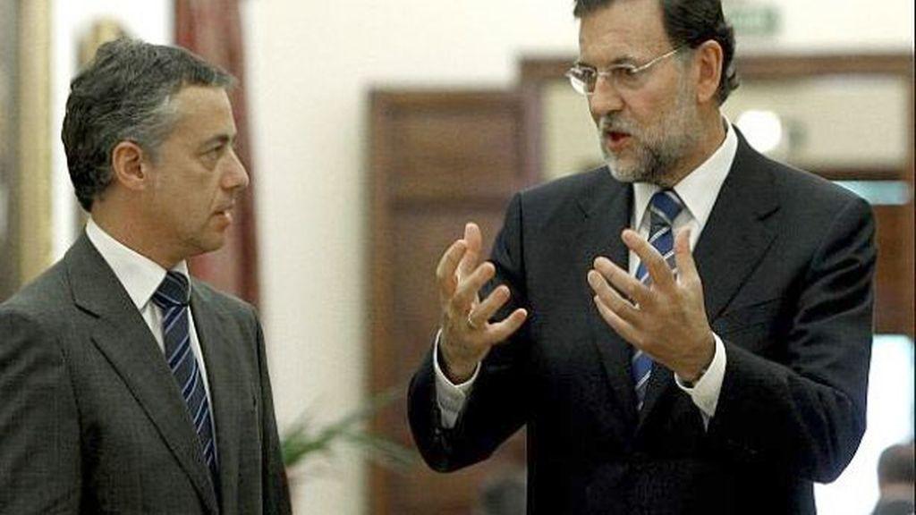 Imagen de archivo de Iñigo Urkullu y Mariano Rajoy